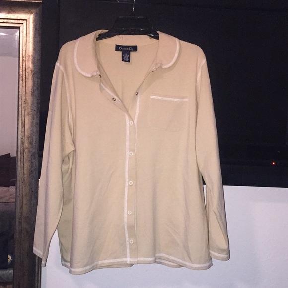 5ea9215d7fd denim   Co. Tops - Denim and co 1X tan long sleeve shirt
